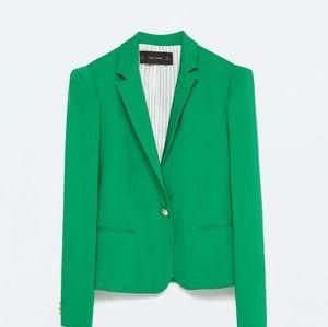 ZARA Emerald Green Blazer
